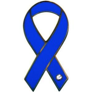 リボンピンバッジ RibbonPins ブルー SAVE the OCEAN美しい海を永遠に バッチ スーツの襟元などに レビュー書いてポイント3倍 メール便で送料無料|tahiti-surf