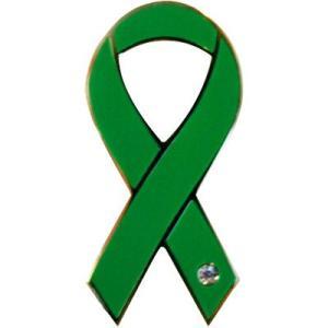 リボンピンバッジ Pins グリーン 緑があふれる地球を願って 自然環境 バッチ バッジ アクセサリー ブローチ ピン ラペルピン メール便で 送料無料|tahiti-surf
