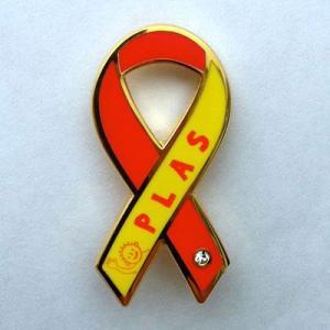 リボンピンバッジ 子ども 支援 エイズ孤児 支援 NGO PLAS バッチ メール便で 送料無料 子供 募金 ブローチ |tahiti-surf