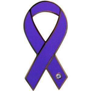 リボンピンバッジ パープル がん患者とその家族への理解と支援 乳がん 乳癌 バッチ アクセサリー ブローチ ピン ラペルピン メール便で 送料無料|tahiti-surf