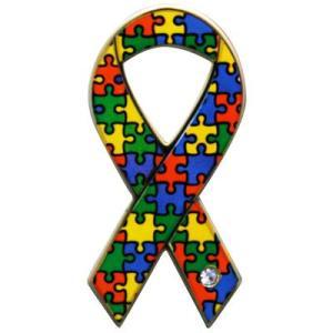 リボンピンバッジ パズル 発達障がい のある人たちとその家族への理解と支援 自閉症 バッチ バッチ ブローチ メール便で 送料無料 発達障害 支援|tahiti-surf