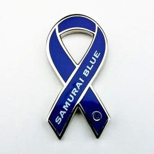リボンピンバッジ RibbonPins サッカー日本代表 SAMURAI BLUE サムライブルー スーツの襟元などに レビュー書いてポイント3倍 メール便で送料無料|tahiti-surf