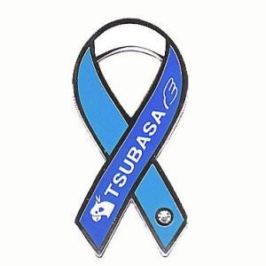 リボンピンバッジ Pins 動物愛護 バードレスキュー NPO法人 TSUBASA バッチ オウム インコ 鳩 フィンチ 鳥 メール便で 送料無料 ブローチ|tahiti-surf