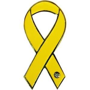 リボンピンバッジ RibbonPins イエロー 大切なひとの無事を祈って バッチ スーツの襟元などに レビュー書いてポイント3倍 メール便で送料無料|tahiti-surf