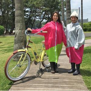 PORD レディース レインポンチョ 8色 女性向 自転車 レインコート 耐水 高防水生地 雨合羽 アウトドア キャンプ 登山 フェス クロネコDM便不可|tahiti-surf|02