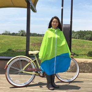 PORD レディース レインポンチョ 8色 女性向 自転車 レインコート 耐水 高防水生地 雨合羽 アウトドア キャンプ 登山 フェス クロネコDM便不可|tahiti-surf|06