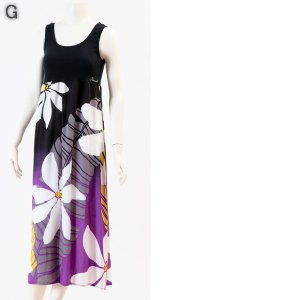 タンクトップドレス 7色 ハワイアン ワンピース マキシ丈 ハワイアンドレス リゾートワンピース PUKANA プカナ レビューを書いてポイント3倍|tahiti-surf|05