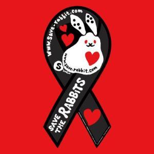 リボンマグネット セーブ・ザ・ラビッツ ブラックレッド save rabbits うさぎ 兎 クロネコDM便で送料無料 レビューを書いてポイント3倍 tahiti-surf