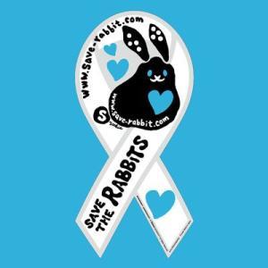 リボンマグネット セーブ・ザ・ラビッツ  ホワイトブルー save rabbits うさぎ 兎 クロネコDM便で送料無料 レビューを書いてポイント3倍|tahiti-surf