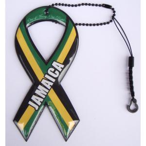 セール!小売価格1050円 リボンドネーションチャーム Ribbon Donation Charm ジャマイカンフラッグ 100円寄付商品 メール便で送料無料|tahiti-surf