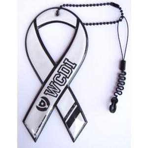 セール!小売価格1050円 リボンドネーションチャーム Ribbon Donation Charm WCDI(we can do it)ホワイト 100円寄付商品 メール便で送料無料|tahiti-surf