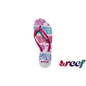 半額!!残りわずか ビーチサンダル REEF リーフ SKINNY RECIFE Floral/Hot pink レディース 23 24 25cm サーフブランド ビーサン|tahiti-surf