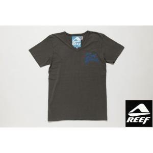 REEF リーフ Tシャツ SEASIDE チャコール メンズ サーフブランド tahiti-surf