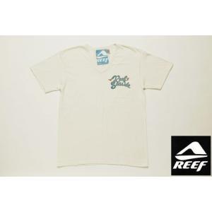 REEF リーフ Tシャツ SEASIDE アイボリー メンズ サーフブランド tahiti-surf