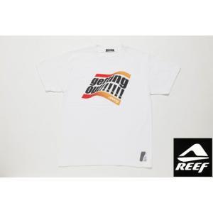 REEF リーフ Tシャツ GET OUT ホワイト メンズ サーフブランド|tahiti-surf