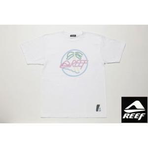 REEF リーフ Tシャツ NEON REEF ホワイト メンズ サーフブランド|tahiti-surf