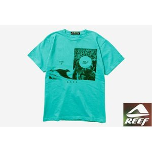 REEF リーフ Tシャツ FIFTY 50 アクア メンズ サーフブランド|tahiti-surf