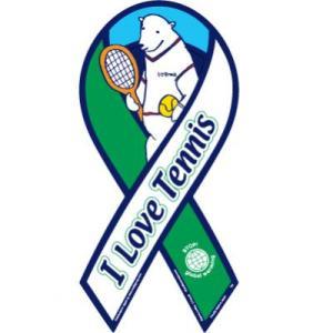 リボンマグネット RibbonMagnet I LOVE TENNIS  日本テニス協会モデル クロネコDM便で送料無料 レビューを書いてポイント3倍|tahiti-surf