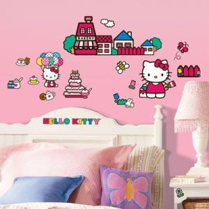 ウォールステッカー ワールドオブハローキティ World of Hello Kitty ルームメイツ  tahiti-surf