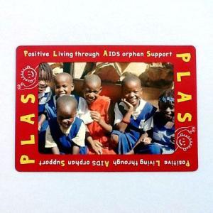 リボンフォトフレーム エイズ孤児支援 PLAS Positive Living through AIDS orphan Support メール便で送料無料|tahiti-surf