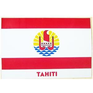 セール品 タヒチ直輸入 ステッカー タヒチの国旗 シール 歪みへこみキズ等あり クロネコDM便で送料100円|tahiti-surf