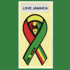 リボンステッカー RibbonSticker ジャマイカ−01 シール メール便で送料100円|tahiti-surf