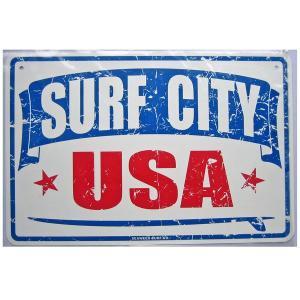 SEAWEED SURF シーウィードサーフ/ブリキ看板 SURF CITY USA(サーフシティ) ハワイアンパーキングサインボード|tahiti-surf