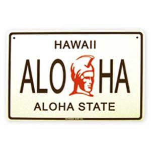 SEAWEED SURF シーウィードサーフ/ブリキ看板 HAWAII  ALOHA(ハワイ アロハ) ハワイアンパーキングサインボード|tahiti-surf