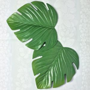 リーフコースター 2枚セット 造花 Monstera フラハワイ hura lehua ハワイアン雑貨 インテリア クロネコDM便で送料100円 セール価格|tahiti-surf