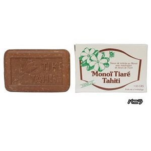 MONOI TIARE TAHITI タヒチ産 タヒチモノイティアレ石鹸 バニラ vanilla モノイオイル使用 100%植物成分 原産国タヒチ島 メール便不可|tahiti-surf
