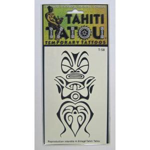 タトゥーシール TAHITI TATOU ティキ 特殊ステッカータイプのイアンスタント入れ墨 クロネコDM便で送料100円|tahiti-surf