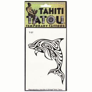 タトゥーシール TAHITI TATOU ドルフィン 特殊ステッカータイプのイアンスタント入れ墨 クロネコDM便で送料100円|tahiti-surf