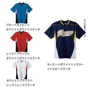 【MIZUNO】ミズノ ベースボールシャツ イージーシャツ ハーフボタン 小衿タイプ 52mw452 tai-spo