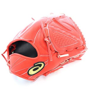 高校野球ルールに対応していない赤のグローブです。 ボーイズリーグ、大学、社会人野球対応です。  カタ...