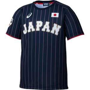 【asics】アシックス 侍ジャパン ユニフォームジュニアTシャツ ビジター用 bat72j|tai-spo