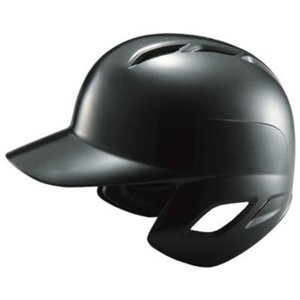 【ZETT】ゼット 一般軟式用打者用ヘルメット 両耳付き ブラック bhl370-1900|tai-spo