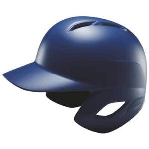 【ZETT】ゼット 一般軟式用打者用ヘルメット 両耳付き つや消し マットロイヤルブルー(受注生産) bhl371-2500|tai-spo