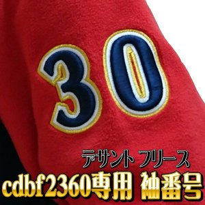 【DESCENTE】デサント カスタムオーダーフリースジャケットcdb-f2360専用 袖番号 ウレタン入り3重直刺繍|tai-spo