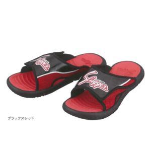 【久保田スラッガー】 サンダル ブラック×レッド d-01sd|tai-spo