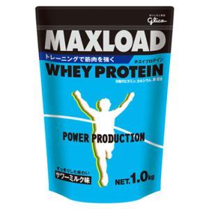 【glico】グリコ スポーツサプリメント マックスロードホエイプロテイン1.0kg サワーミルク味 g76011|tai-spo