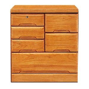 ローチェスト 整理タンス 完成品 幅70cm 3段 鍵付きチェスト 収納家具 木製 桐無垢 日本製