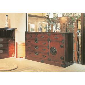 筑後民芸 幅135cm 整理箪笥 時代塗 和風 和箪笥