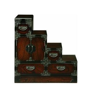民芸家具 和たんす 和風 階段箪笥 75cm 階段たんす 右下り 三丸民芸