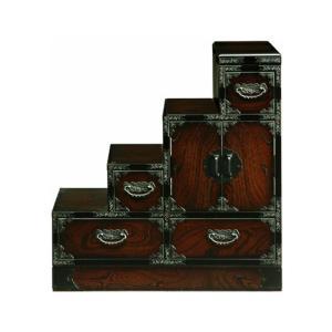 民芸家具 和たんす 和風 階段箪笥 幅75cm 階段たんす 左下り 三丸民芸