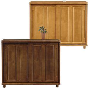 幅120cm、和風の玄関によく似合う下駄箱。玄関を明るくするナチュラルと、落ち着いたブラウンの2色タ...