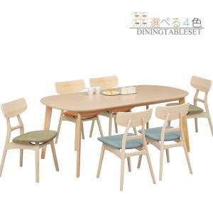 ダイニングテーブルセット 7点セット 楕円 オーバル ダイニングセット 6人掛け 180テーブル 北欧 モダン|taiho-kagu