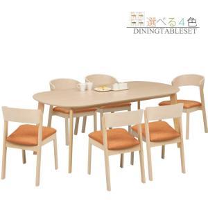 ダイニングテーブルセット 6人掛け ダイニングセット 7点セット 楕円 オーバル 180テーブル 北欧 モダン|taiho-kagu