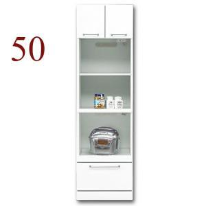 食器棚 レンジ台 幅50cm キッチン収納 クリスタル(50トリプルハイレンジ) 国産|taiho-kagu