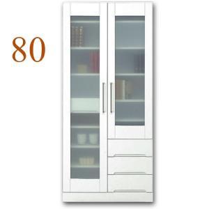 食器棚 幅80cm キッチン収納 クリスタル(80マルチボード) 国産|taiho-kagu