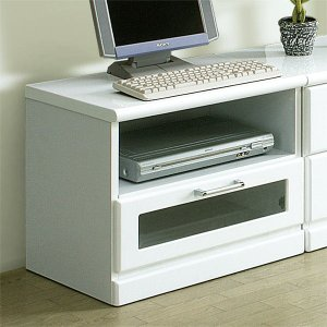 テレビ台 リビングボード 幅60cm 完成品 ローボード 鏡面 光沢 ホワイト 白 収納 木製 テレビボード|taiho-kagu